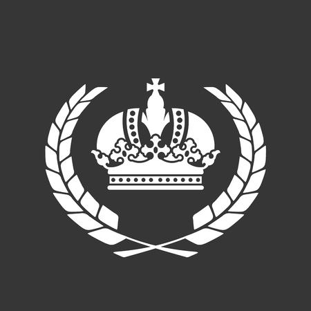 Familie blazon of wapenschild - Heraldische kroon en lauwerkrans