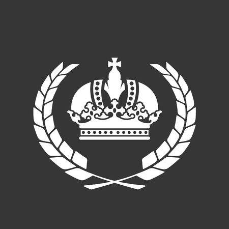 Family blazon or coat of arms - heraldic crown and laurel wreath