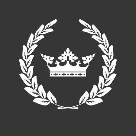 Kroon en lauwerkrans - familie blazon of wapenschild