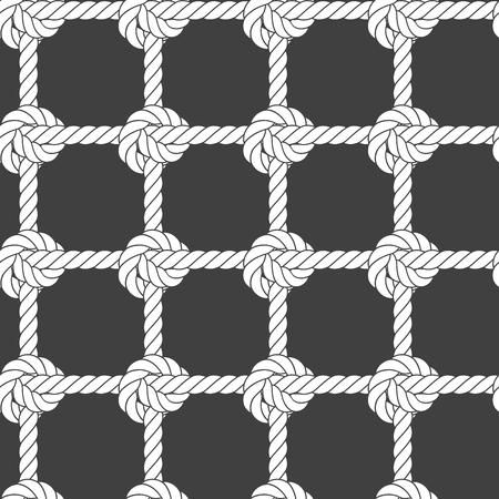Seamless rope mesh - knots pattern