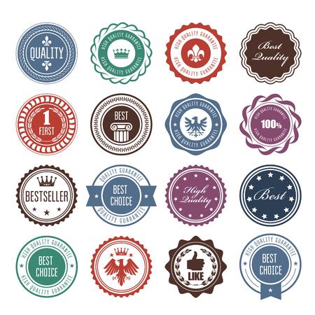 Emblems, badges and stamps - prize seals designs Illustration