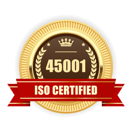 ISO 45001 certified medal - Occupational health and safety