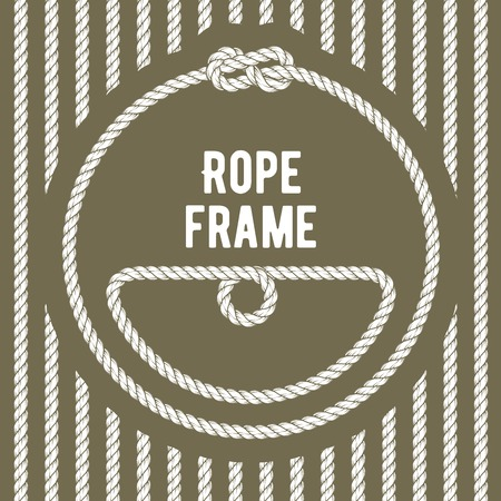 Retro round rope frame with a knot.