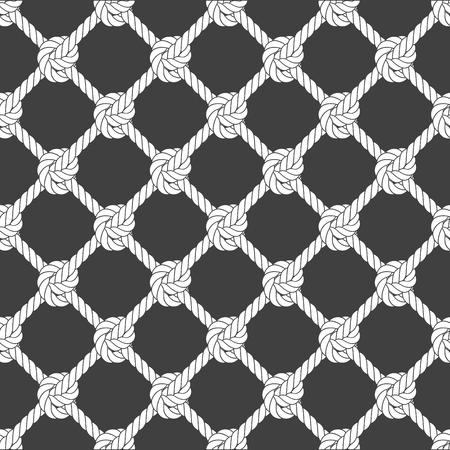 Seamless diagonal rope mesh - rope grid pattern Ilustracja