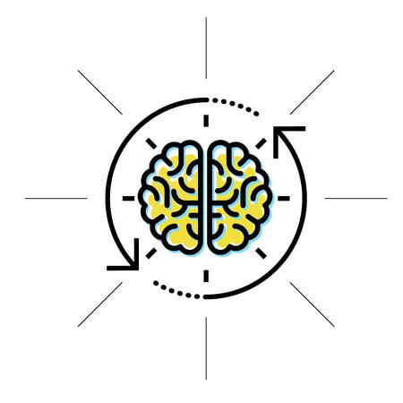 Mózg w zasięgu wzroku - intelekt, koncepcja badań i wiedzy Ilustracje wektorowe