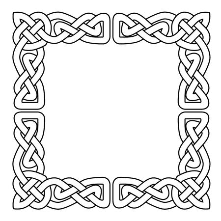 Celtic national seamless ornament interlaced tape