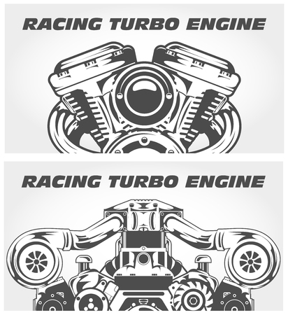 Turbocharging racing engine and motorcycle power motor.