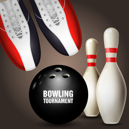 Bowling tournament poster. Ilustracja