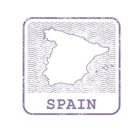 Stamp with map design.