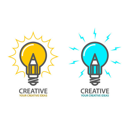 Symbol of creative idea - light bulb icon, design concept Ilustracja