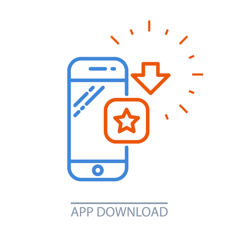 Download smartphone app mobile application purchase icon. Illustration