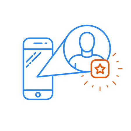 Add a friend favorite user icon on smartphone.