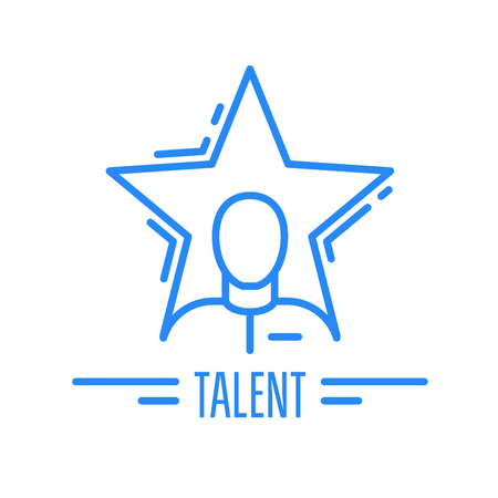 Got talent - emblem with man and star, celebrity symbol. Illustration