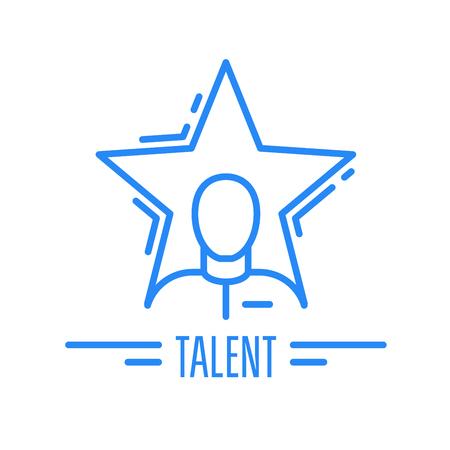 Got talent - emblem with man and star, celebrity symbol. Vectores