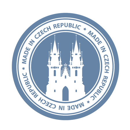 Czech travel stamp