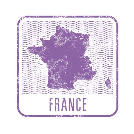 France travel stamp