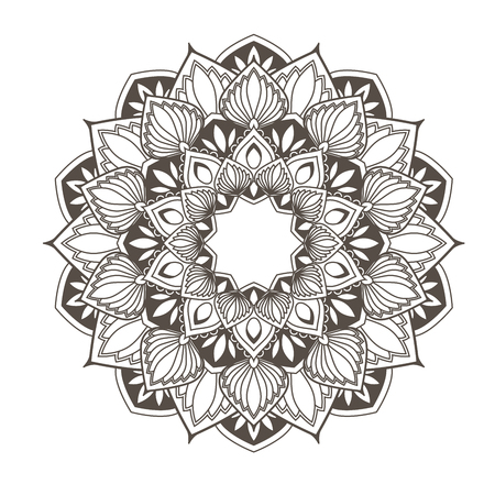 Ethnic mandala design - flower style oriental pattern.