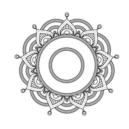 Indian mandala - flower style round Moroccan pattern.
