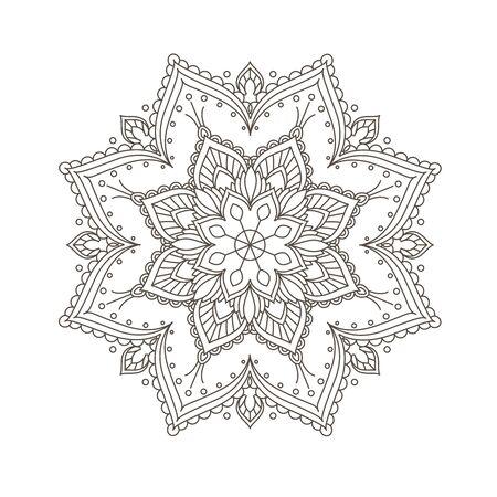 Ethnic mandala design - bohemian mandala pattern in henna style.