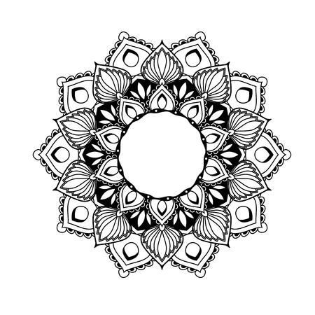Ethnic mandala design - flower style tracery in ethnic style