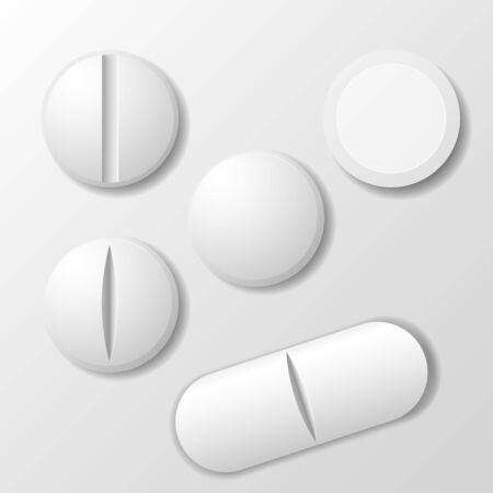 Set of medicine pill - tablet drug