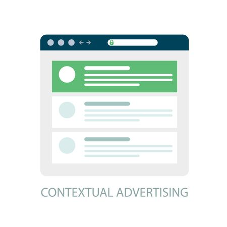 Pay Per Click icon, contextual advertising - ppc online marketing concept Illustration