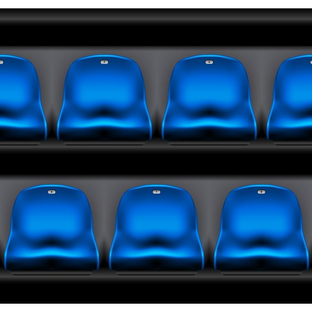 Row of plastic stadium seating - sport arena chairs