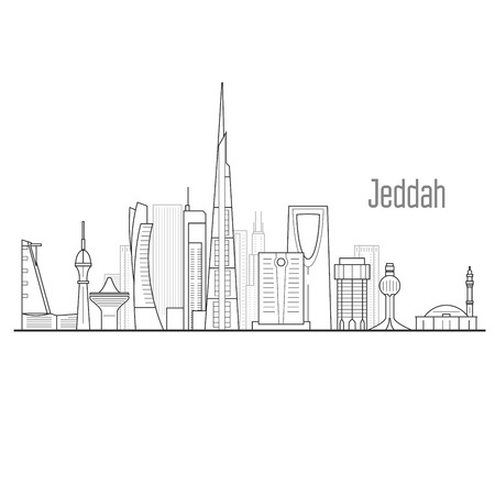 Jeddah cityscape - towers and landmarks of Jiddah, city skyline