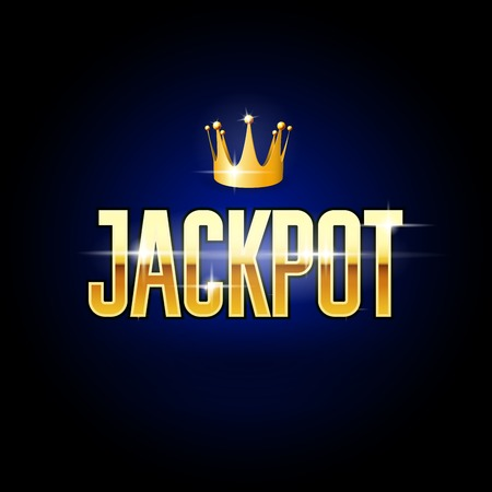 Golden title Jackpot and crown - casino and gambling poster