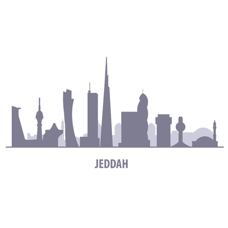 Jeddah city skyline - Jiddah landmarks and cityscape