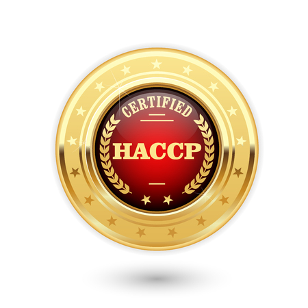 HACCP certified medal - Hazard Analysis and Critical Control Points