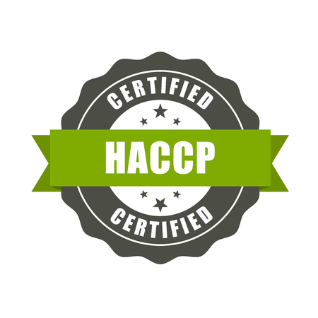 HACCP certified stamp - quality standard seal, Hazard Analysis and Critical Control Points