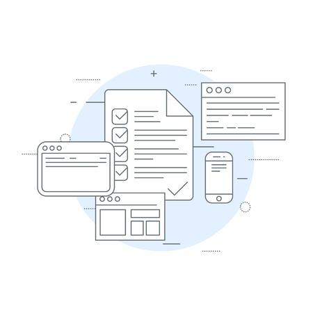 Icône de circulation des documents - flux de travail, inventaire et audit