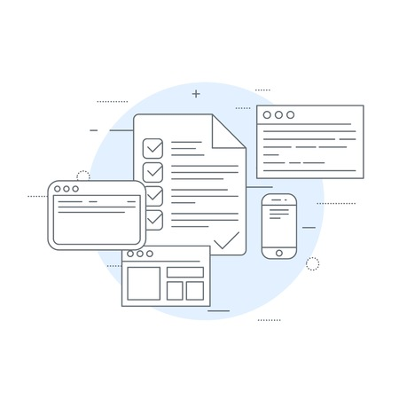 Circulation of documents icon - workflow, inventory and audit