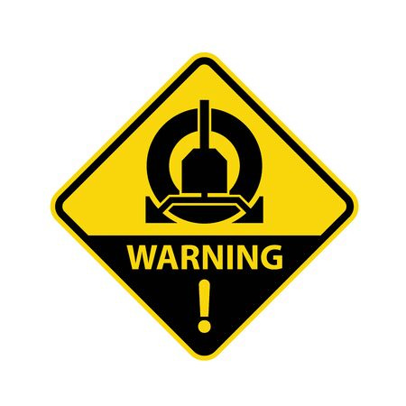 Wheel clamping in operation road sign - parking clamp warning symbol