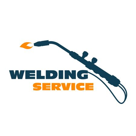Welding icon - burner cutting torch, weld service simple