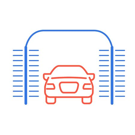 Automatic car wash icon - car-wash with cylindrical brushes