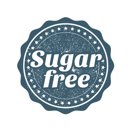 Sugar free stamp, webseal or badge for products without sugar Иллюстрация