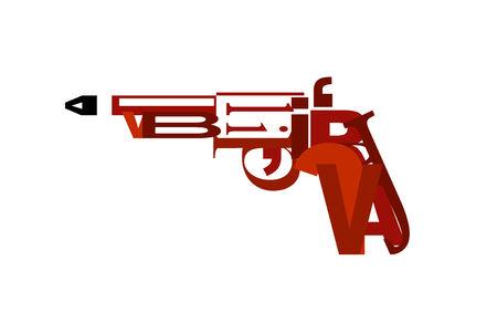 swear: gun made of letters