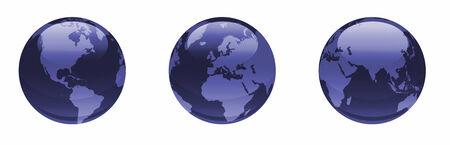 dark blue: shiny dark blue globes