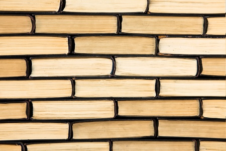 continuous: Background of old books, Wall of Books Stock Photo