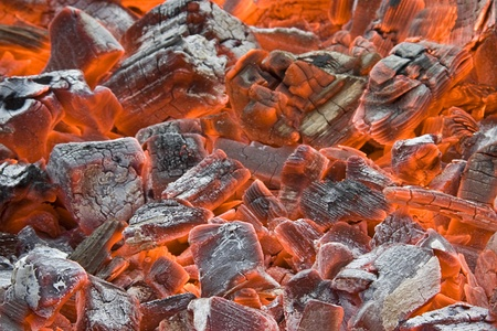 coal fire: Background of smoldering coal  Stock Photo