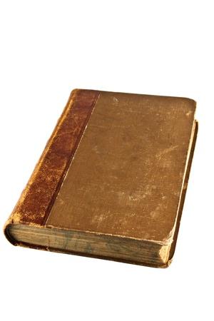 Geschlossen Auf Weissem Hintergrund Old BookIsolated Standard Bild