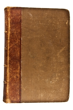 blanck: Closed Old Book.Isolated on white background. top view