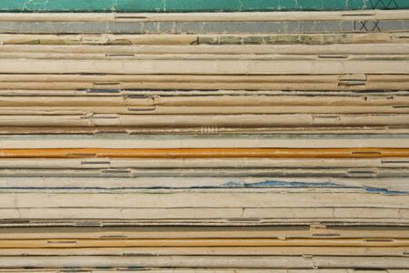 Stack of old magazines,Background from  stack of old magazines Stock Photo - 10734777