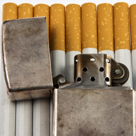Background Zippo and cigarettes photo