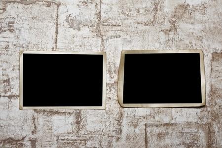 stock photo: Photoframe  on  wall. Stock Photo