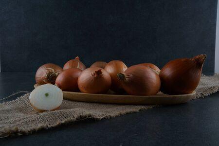 onion slice stock photo Foto de archivo