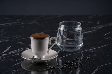 turkish coffee on marble stock photo Stock Photo
