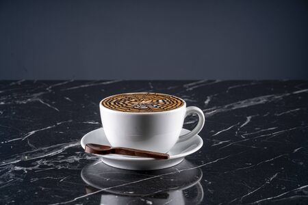mocha on marble stock photo